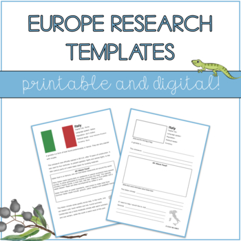 Let's Research Albania! Country research template and guide.