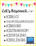Let's Research Classroom Poster