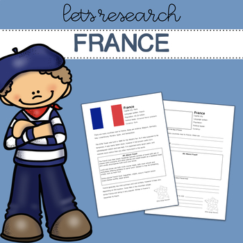 Let's Research France! Research template/guide.