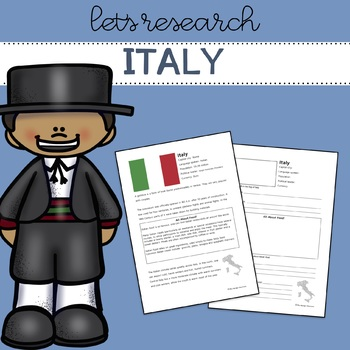 Let's Research Italy! Country research template/guide.