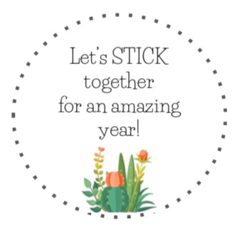Let's STICK together for an amazing year! Gift Tag