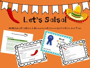 Let's Salsa!  (Project for Multiplying Fractions and Measurement Conversion)