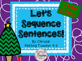 Let's Sequence Sentences - Winter Edition