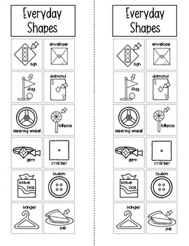 Shapes: Let's Sort Real World Objects {Math} for Kindergarten and First Grade
