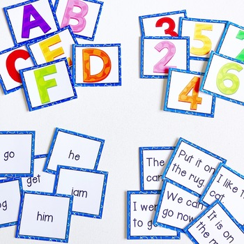 Let's Sort! {Letters, Numbers, Words, Sentences}