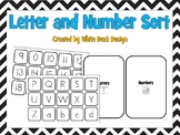 Let's Sort! Letters vs. Numbers