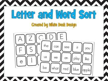 Let's Sort! Letters vs. Words