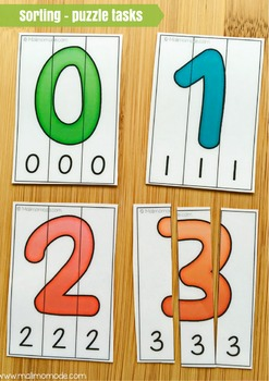Numbers 1-10 Word Puzzles and Spelling Practice
