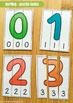 Numbers 1-10 Sorting and Spelling Puzzles! Word Building f