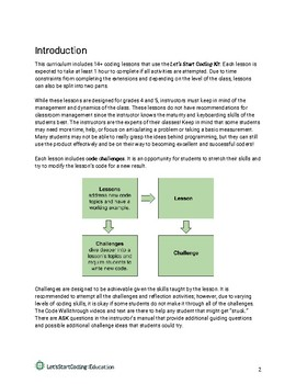 Let's Start Coding Lesson Plans Grades 4-5