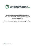 Let's Start Coding Lesson Plans Grades 6-8