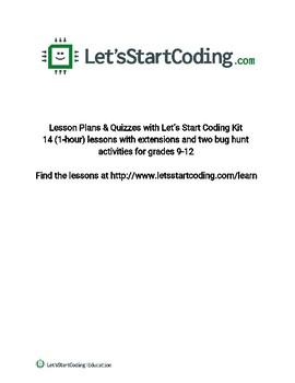 Let's Start Coding Lesson Plans Grades 9-12