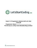 Let's Start Coding Programmer's Notebook Grades 9-12
