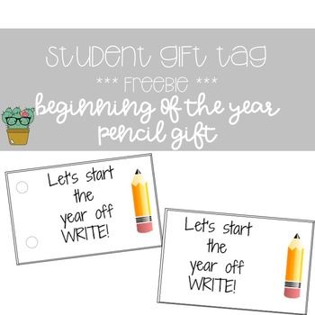 Let's Start the Year Off Write Tag