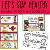 Let's Stay Healthy   Social Distancing   Posters   Social Story