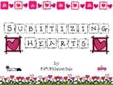 Let's Subitize Valentines! Pre-K & K Numbers & Sets from 1-10