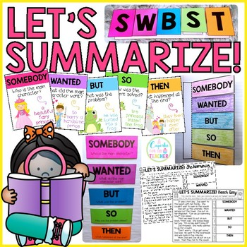Let's Summarize!  Craftivity, Posters & Printables for SWBST