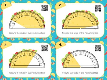 Let's Taco 'Bout Angles- Measuring Angles Task Cards 4.7C