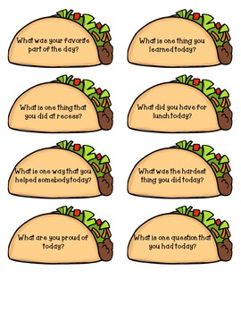 Let's Taco 'Bout It: Community Building Questions for the End of the Day