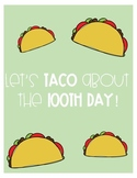 Let's Taco about the 100th day!