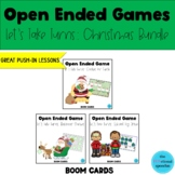 Open Ended Game Let's Take Turns: Christmas Bundle BOOM Card for Speech Language