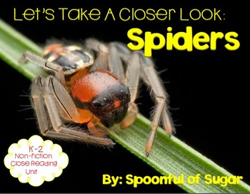 Let's Take a Closer Look: Spiders (A K-2 Close Reading Unit)
