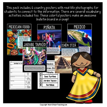 Let's Take a Trip to Mexico: A Country Study with Articles, Activities & Craft