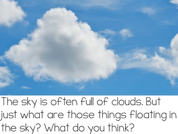 Let's Talk About Clouds: Interactive Read-Aloud PowerPoint