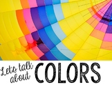Let's Talk About Colors: Interactive Read-Aloud PowerPoint