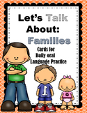 Let's Talk About Families- Daily Oral  Language Practice Cards