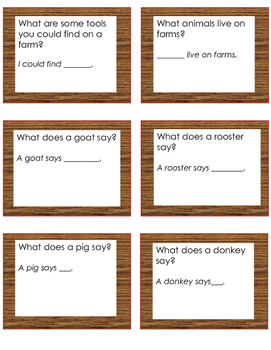 Let's Talk About Farms- Daily Oral Language Practice