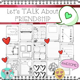 Let's Talk About Friendship Booklet: Friendship Worksheets And Activities