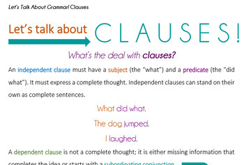 Let's Talk About Grammar! Clauses