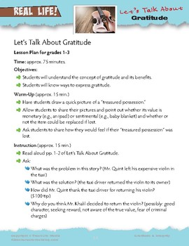 Let's Talk About Gratitude