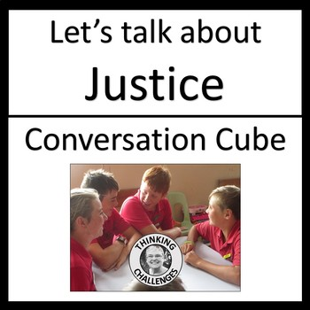 Let's Talk About Justice Conversation Cube