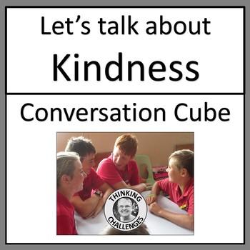 Let's Talk About Kindness Conversation Cube