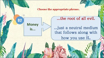 Let's Talk About Money (ESL Speaking practice for Intermediate level students)