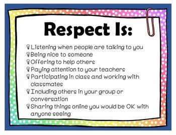 Let's Talk About Respect Lesson Plan