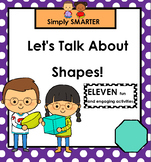 Let's Talk About Shapes!:  SMARTBOARD Math Talks