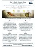 Let's Talk About Sleep