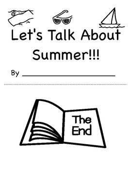 Let's Talk About Summer: Vocabulary Building Book (field of 2), Speech, Autsm