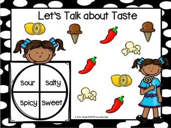 Let's Talk About Taste:  NO PREP Five Senses Spin and Cover Game