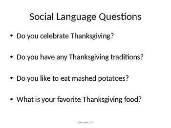 Thanksgiving Adapted Book  : Let's Talk About Thanksgiving