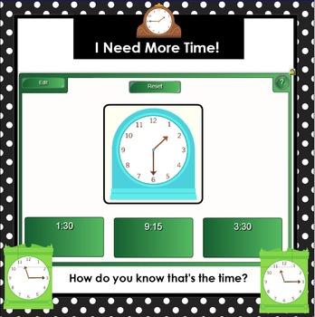 Let's Talk About Time!:  SMARTBOARD Math Talks