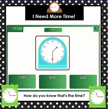 Let's Talk About Time!:  SMARTBOARD Math Talks