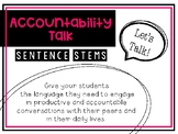 Let's Talk! (Accountable Talk Posters for the Classroom)