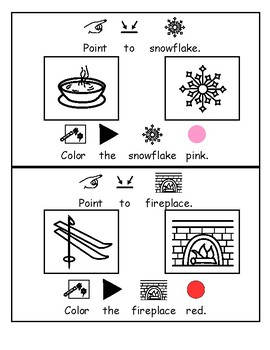 Let's Talk: All About Winter (Vocabulary, Receptive Language, Follow Directions)