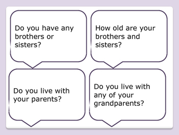 ESL Let's Talk! Conversation Starters - Family and Friends -ESL,ENL,Speech