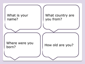 ESL Let's Talk! Conversation Starters - Getting to Know You -ESL,ENL,Speech