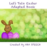 Let's Talk Easter Adapted Book